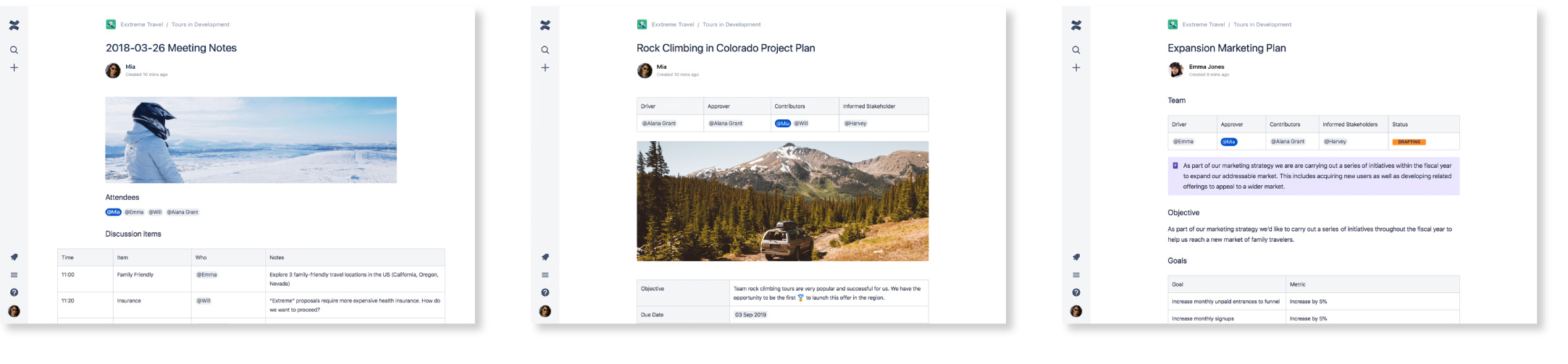 Atlassian Confluence Template Screenshots